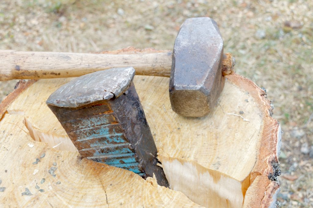 Sledgehammer and a wedge