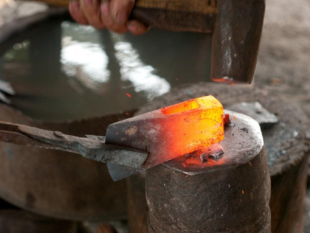 forging an ax